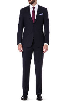 CANALI Textured stripe single-breasted wool suit
