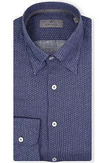 CANALI Regular linen shirt