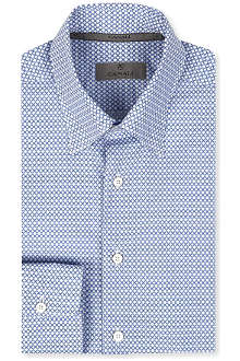 CANALI Oval print modern-fit shirt