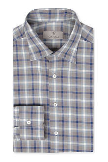 CANALI White base check shirt