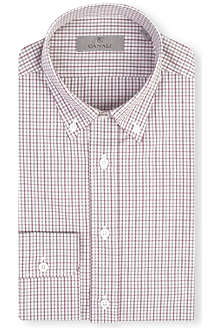CANALI Modern-fit gingham shirt