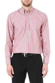 CANALI Striped button-down collar shirt
