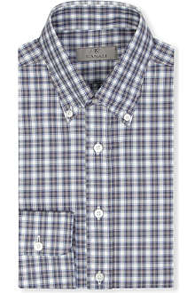 CANALI Modern-fit single-cuff check shirt