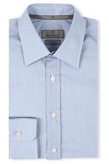 CANALI Geometric-print single-cuff shirt