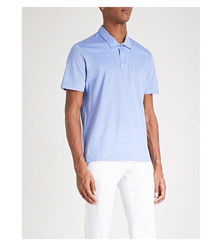 CANALI Cotton-pique polo shirt (Blue