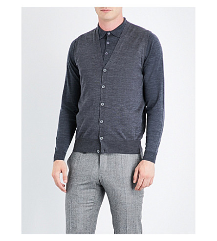 CANALI V-neck wool vest (Grey