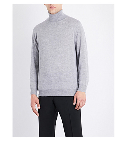 CANALI Merino wool turtle neck jumper (Grey