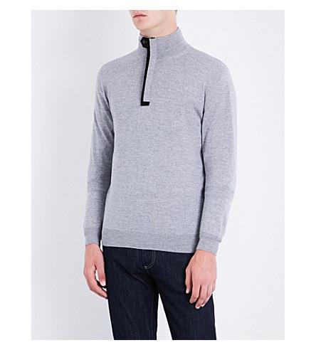 CANALI High-neck wool sweater (Grey