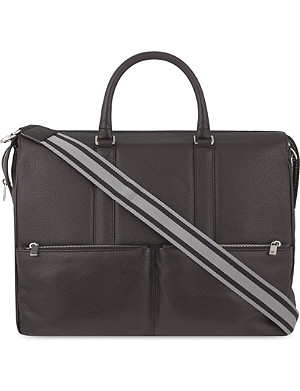 CANALI Leather messenger bag
