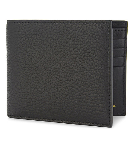 CANALI Leather billfold wallet (Black