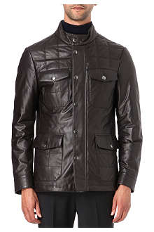 CANALI Quilted leather jacket