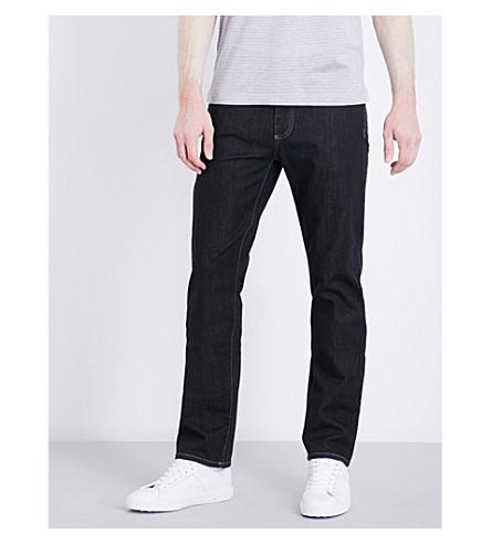 CANALI Slim-fit skinny mid-rise jeans (Black