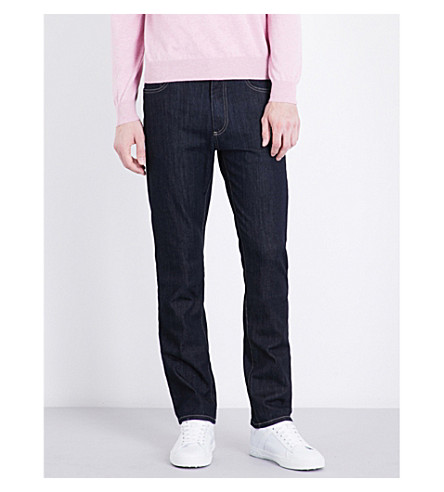 CANALI Slim-fit skinny mid-rise jeans (Navy