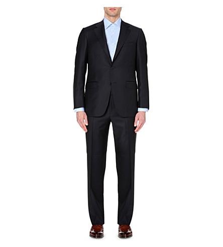 CANALI Regular-fit wool-twill suit (Navy