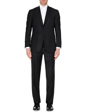 CANALI Black wool-twill suit