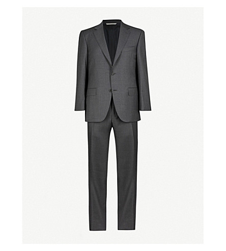 CANALI Regular-fit wool suit (Grey