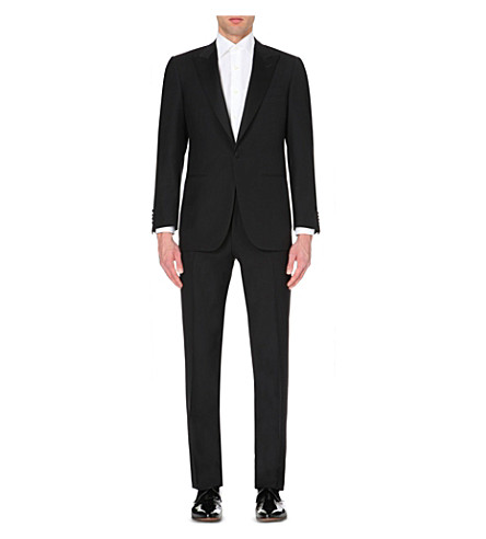 CANALI Regular-fit wool suit (Black
