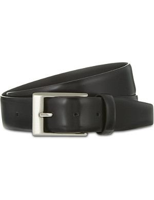 CANALI Smooth leather belt
