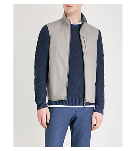 CANALI Reversible shell gilet (Grey