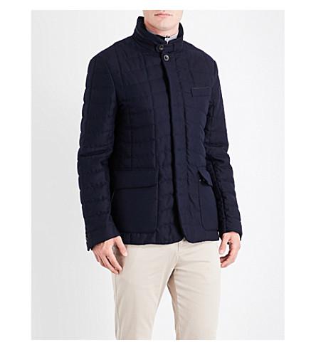 CANALI Pocket-detailed wool jacket (Blue