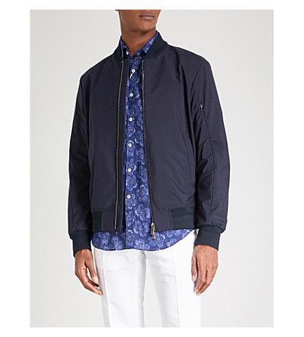 CANALI Shell bomber jacket (Navy