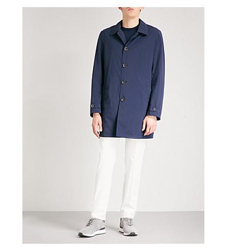 CANALI Longline shell overcoat (Navy