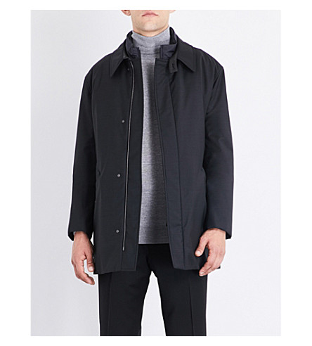 CANALI Storm System wool-blend jacket (Charcoal