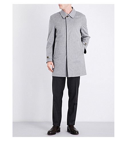 CANALI Reversible cashmere raincoat (Grey