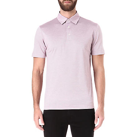 CANALI Striped polo shirt (Pink