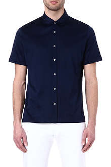 CANALI Cotton short-sleeved shirt