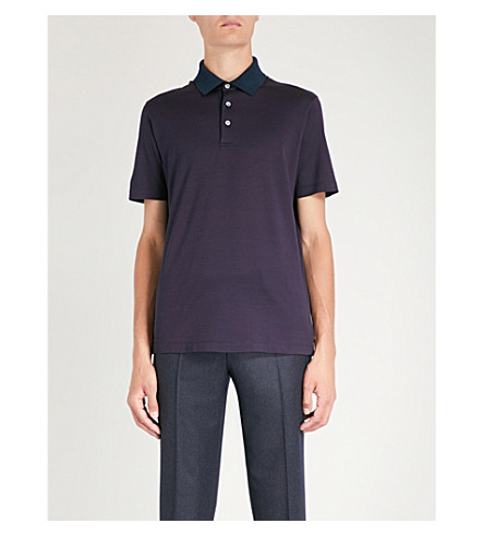 Micro cotton CANALI dot shirt CANALI jersey jersey Burgundy dot polo shirt cotton Micro polo ZwqcHATf