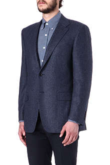 CANALI Single-breasted whalebone cashmere blazer