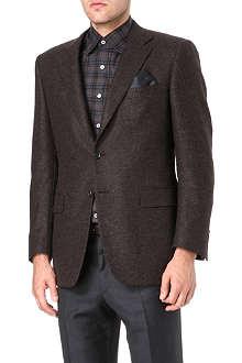 CANALI Single-breasted birdseye cashmere blazer