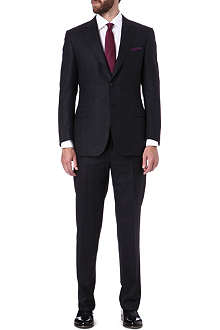 CANALI Single-breasted wool and silk-blend suit