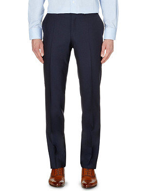 CANALI Regular-fit contemporary wool suit trousers