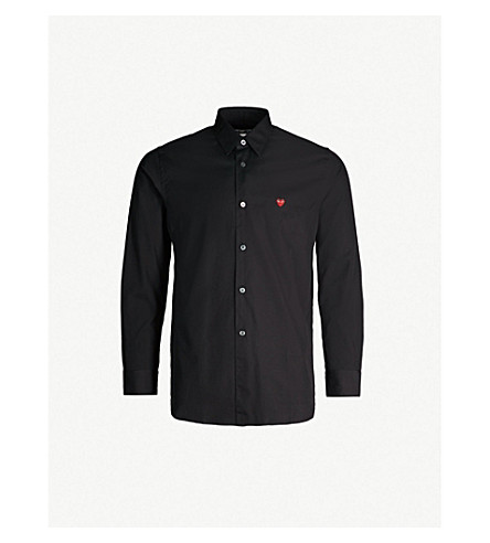 COMME DES GARCONS PLAY Logo-detail cotton shirt (Black