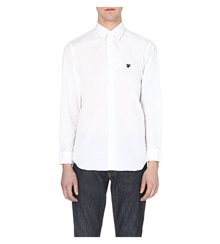 COMME DES GARCONS PLAY Logo-detail cotton shirt (White