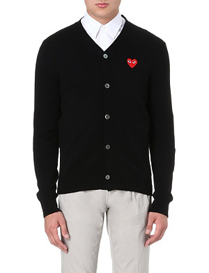COMME DES GARCONS PLAY Fitted wool cardigan