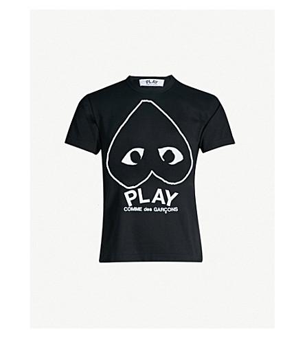 COMME DES GARCONS PLAY Logo-print cotton t-shirt (Black
