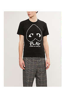 COMME DES GARCONS PLAY Logo-print cotton t-shirt