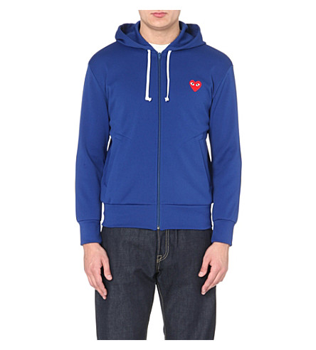 COMME DES GARCONS PLAY Jersey hoody (Blue