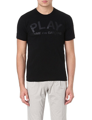 COMME DES GARCONS PLAY Fitted cotton t-shirt