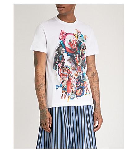 COMME DES GARCONS HOMME PLUS Graphic-print cotton-jersey T-shirt (White