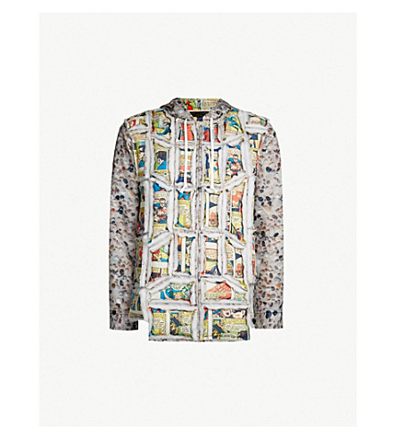 COMME DES GARCONS HOMME PLUS Printed woven hooded jacket (Au pattern
