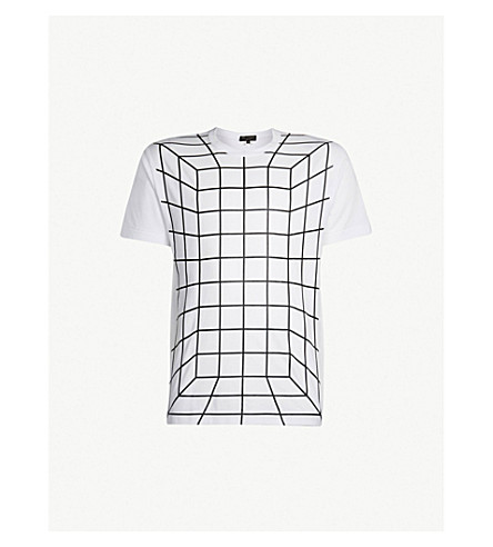 COMME DES GARCONS HOMME PLUS Graphic-print cotton-jersey T-shirt (White+black