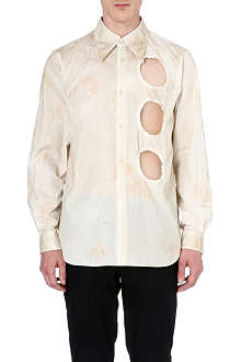 COMME DES GARCONS Cut-out stain-effect shirt