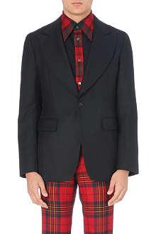 COMME DES GARCONS Plaid-back wool blazer