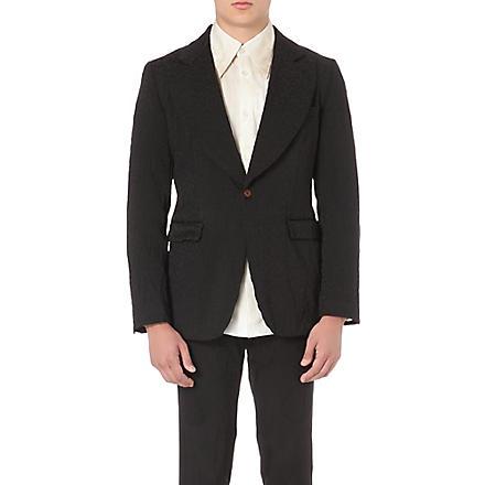 COMME DES GARCONS Animal-jacquard blazer (Black