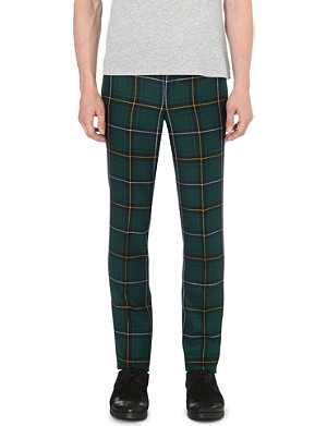 COMME DES GARCONS Checked slim-fit trousers