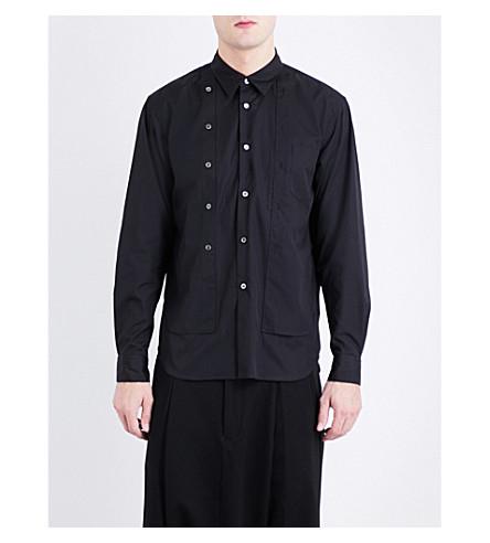 COMME DES GARCONS HOMME PLUS Double button-detail regular-fit cotton shirt (Black